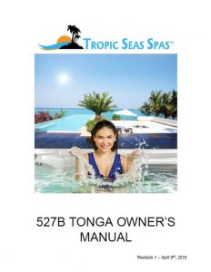 Tropic Seas Spas Tonga Owner's Manual